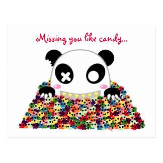 "Ijimekko Panda ""Missing You"" Postcard"