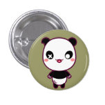 Ijimekko the Bully Panda 1 Inch Round Button