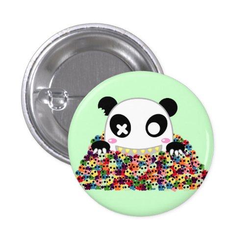 Ijimekko the Panda - Sugar Skulls 1 Inch Round Button