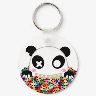 Ijimekko the Panda - Sugar Skulls keychains