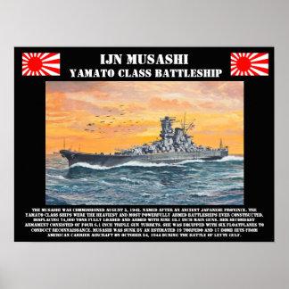 IJN Battleship Musashi Poster