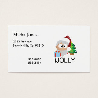 iJOLLY Santa Claus Spreads Happiness Business Card