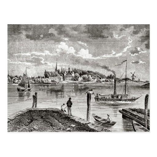 Ijsselmonde del siglo XIX, orilla del agua Tarjetas Postales