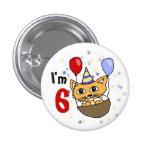 Ik ben 6 verjaardag pin redondo 2,5 cm
