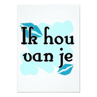 Ik hou van je - holandés - te amo comunicado personalizado
