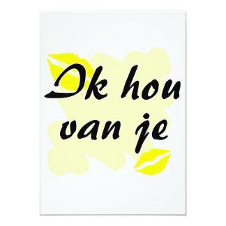 Ik hou van je - holandés - te amo invitación personalizada