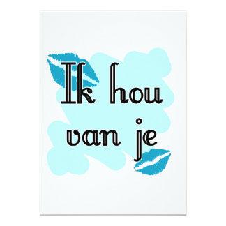 Ik hou van je - holandés - te amo invitaciones personalizada