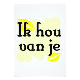 Ik hou van je - holandés - te amo anuncio personalizado