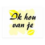Ik hou van je - holandés - te amo postal