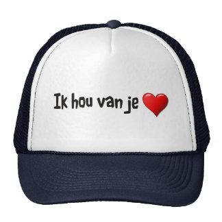 Ik hou van je - te amo en holandés gorras