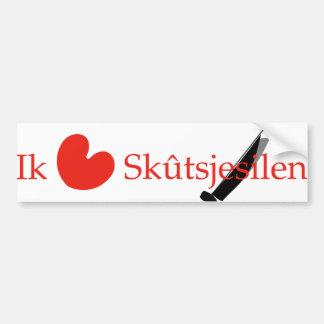 Ik hou van Skutsjesilen. Bumper Sticker
