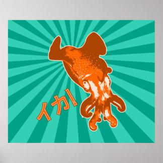 Ika anaranjado posters