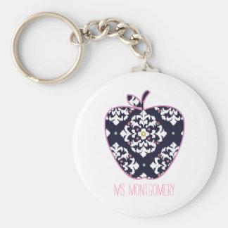 Ikat Apple Teacher Keychain