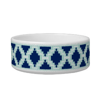 Ikat Aztec Pattern - Indigo and light blue Bowl