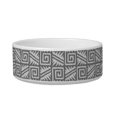 Aztec Themed Ikat Aztec Pattern - Shades of Grey / Gray Bowl