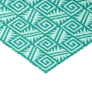 "Ikat Aztec Pattern - Turquoise and Aqua 10"" X 15"" Tissue Paper"
