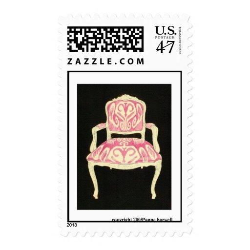 Ikat Chair US Postage Stamp -