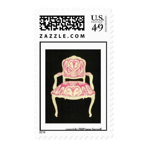Ikat Chair US Postage Stamp -