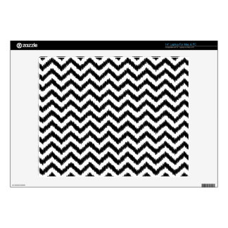 "Ikat Chevron Black Pattern Zigzag Decals For 14"" Laptops"