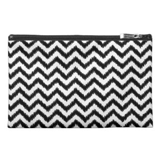 Ikat Chevron Black Pattern Zigzag Travel Accessory Bag