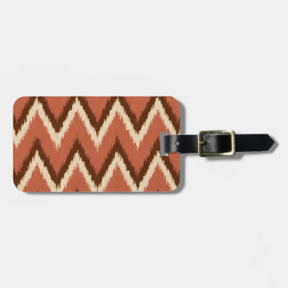 Ikat Chevron Stripes - Rust, Brown and Beige Luggage Tags