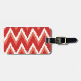 Ikat Chevron Stripes - Rust Orange and White Bag Tags
