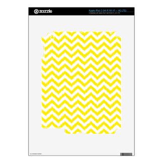 Ikat Chevron Sunny Yellow Pattern Zigzag Decals For iPad 3