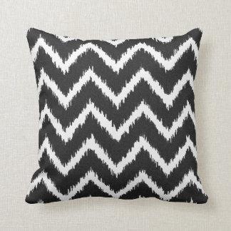 Ikat Chevrons - Black and white Pillow