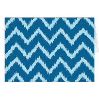 Ikat Chevrons - Indigo and Pale Blue Card
