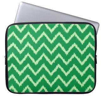 Ikat Chevrons - Pine and light green Computer Sleeve