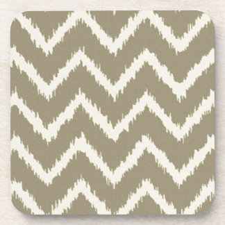 Ikat Chevrons - Taupe tan and beige Coaster