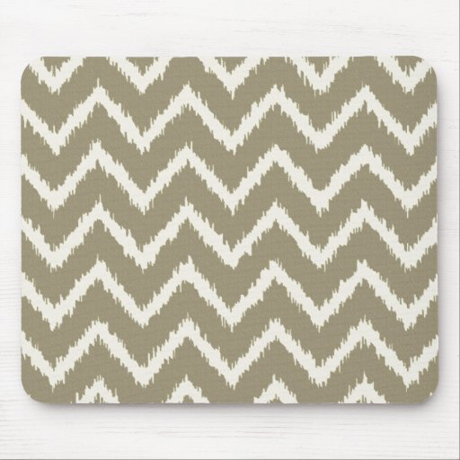 Ikat chevrons taupe tan and beige mouse pad zazzle - Beige slaapkamer taupe ...