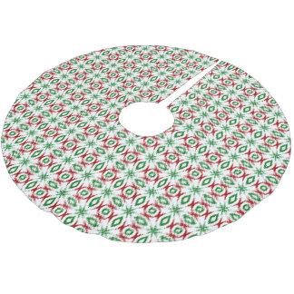 Ikat Christmas pattern Brushed Polyester Tree Skirt