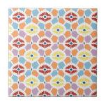 Ikat colorido de los diamantes geométrico azulejos ceramicos