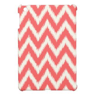 Ikat coralino Chevron iPad Mini Funda