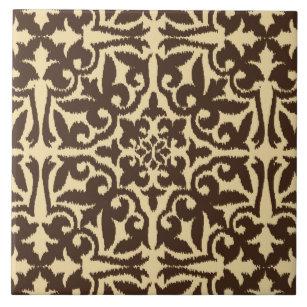 Dark Brown Decorative Ceramic Tiles | Zazzle