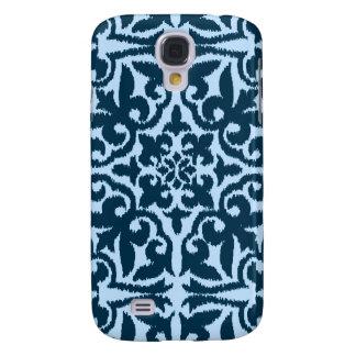 Ikat damask pattern - Dark Indigo and Light Blue Samsung S4 Case