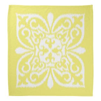 Ikat damask pattern - yellow and white kerchief