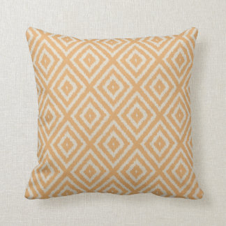 Ikat Diamond Pattern in Apricot and Cream Pillow