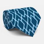 Ikat diamonds - Shades of denim blue Tie