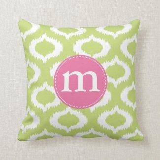 ikat green.ai pillows