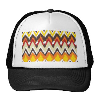 iKat Inspired Fall Autumn Colors Pattern Mesh Hat