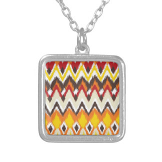 iKat Inspired Fall Autumn Colors Pattern Custom Necklace