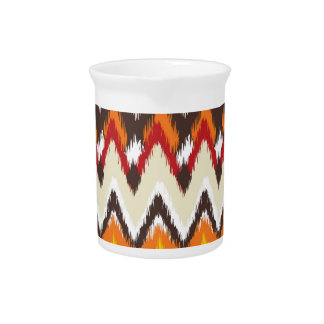 iKat Inspired Fall Autumn Colors Pattern Pitcher