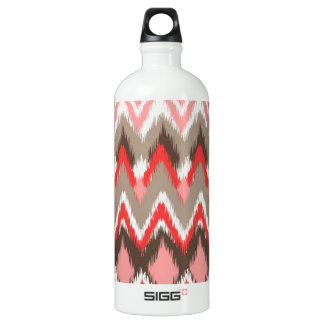 iKat Inspired Pink Brown Pattern Aluminum Water Bottle