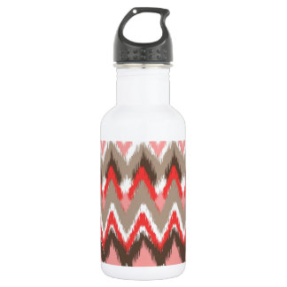 iKat Inspired Pink Brown Pattern Stainless Steel Water Bottle