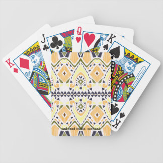Ikat Line Bicycle Playing Cards