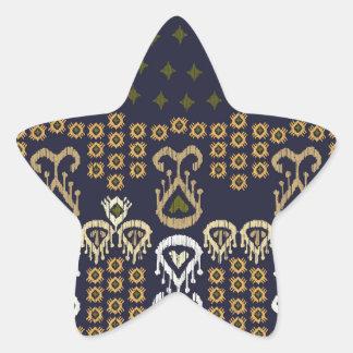 Ikat Modern Border Star Sticker