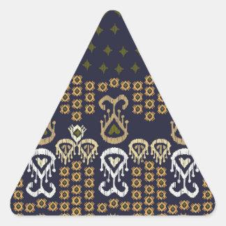 Ikat Modern Border Triangle Sticker