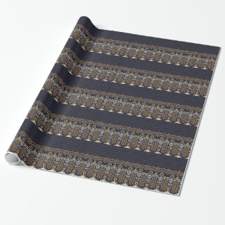 Ikat Modern Border Wrapping Paper
